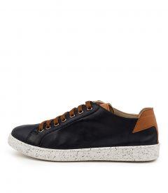 Samira Navy-tan Leather