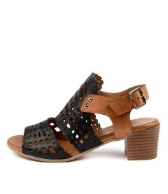 Viktola Black-tan Leather