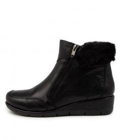 Montello Black Leathe-fur