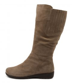 Pilka Taupe Suede