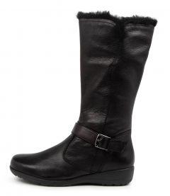Pippie Black Leather-fur