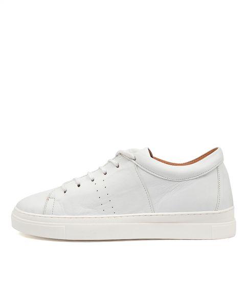 Azela Df White Tan Leather by Diana Ferrari