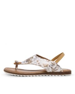 KIRBY DF TAN FLORAL LEATHER