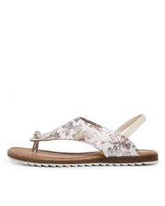 KIRBY DF TAUPE FLORAL LEATHER