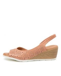 XABELLE DF CANTALOUPE LEATHER