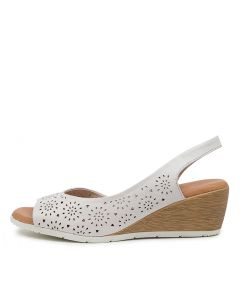 XABELLE DF WHITE LEATHER