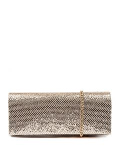 LAVISH CLUTCH SOFT GOLD GLITTER