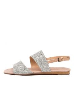 YOUNGSA DF WHITE DOT DK NUDE SUEDE LEATHER