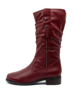 PINTO RED LEATHER