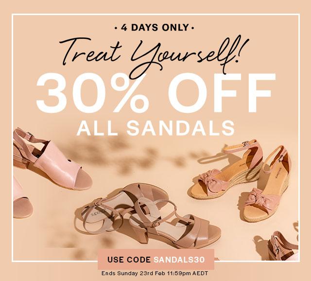 30 Percent Off Sandals